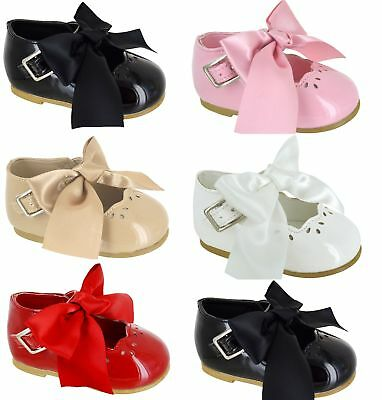 Girls Kids Baby Infants Childrens Flat Summer Holiday Wedding Bridesmaid Shoes S
