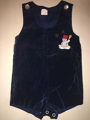 Vintage 24 M Snowman Embrodiered Romper