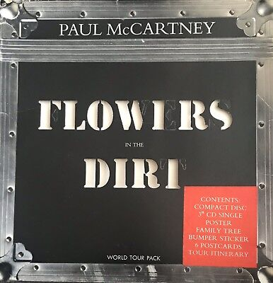 PAUL McCARTNEY ~ Flowers In The Dirt ~ Rare 1989 UK World Tour Pack ~CDs/Posters
