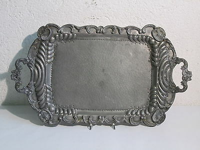LARGE TRAY LIBERTY VENETIAN TWO HANDLES IN PEWTER RETORTED TO HAND 58X33cm