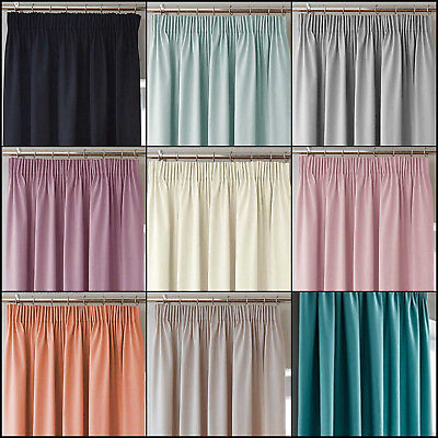 Blackout Ready Made Curtains With 3 Pass Winter Thermal Backing. In 8 Colours