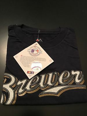 NEW Milwaukee Brewers Ryan Braun #8 MLB Majestic Toddler Tshirt Jersey Size 4T