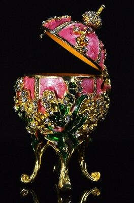 Rose Russian Metal religious mascot Collection Faberge egg