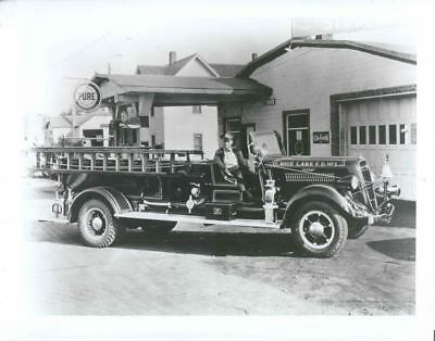 1936 Studebaker 2W657 Fire Truck Factory Photo u1206-3VKMAA