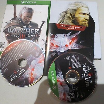The Witcher 3 III: Wild Hunt Complete USED (Microsoft Xbox One, 2016)-metal case