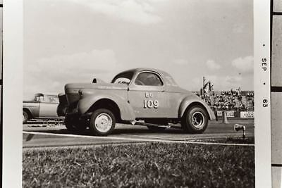 1939 Willys Coupe Drag Race Factory Photo u1471-UBMOSC