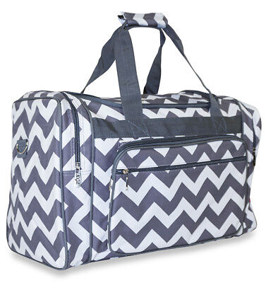 d3ef45d8275 Chevron Large Duffle Bag Duffel Carry On Luggage Gym Sports Travel 20-inch  Gray