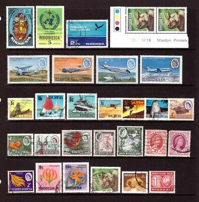 RHODESIA - Mint & used selection incl. 1966 Airmail set.