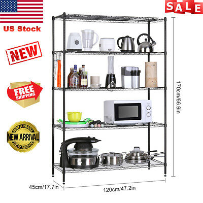 5-Tier Heavy Duty Extra Large Shelving Unit Garage Metal Storage Rack Organizer