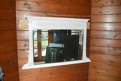 Regency  Overmantle Mirror With a Rectangular Bevelled Edge Mirror Plate