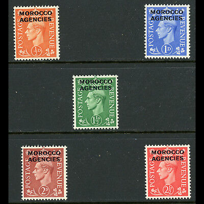 MOROCCO AGENCIES 1951 Short Set to 2.5d. SG 94-98. Mint Never Hinged. (AB843)