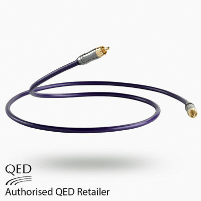 QED Performance DIGITAL Audio 0.5m 75Ω Coaxial CUSTOM Interconnect Cable