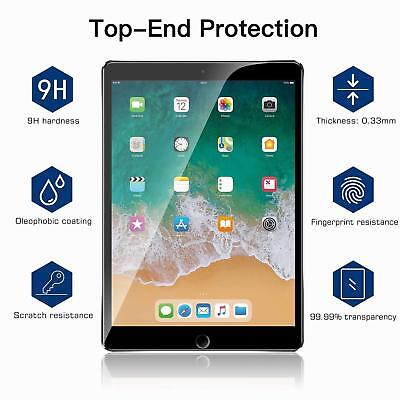 2X 9H Screen Protector Tempered Glass For iPad 4 5 6th Gen/Air/Mini/Pro 12.9 11