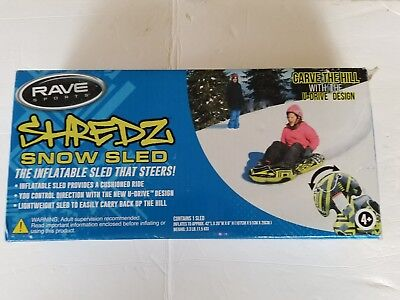 "Rave Products Shredz Snow Sled ""The Inflatable Sled that Steers!"" U-drive Design"