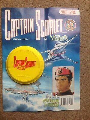 GERRY ANDERSON CAPTAIN SCARLET SCI FI COMIC NO 1 WITH FREE GIFT 1st ISSUE  No 1