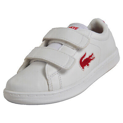 bd5569fd1 Lacoste Carnaby Evo Infants Toddlers Classic Retro Designer Trainers White  B Gra
