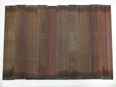 (10) Lot of 10 GUITAR LUTHIER ROSEWOOD FINGERBOARD BLANK #8  21 X 2 15/16 X 3/8""