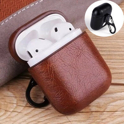 Luxury Leather Cover Protective Skin Earphones Charging Case For Apple AirPods