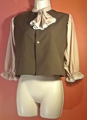 Rubies Costumes COLONIAL BOY Shirt Blouse Costume Sz MED Thanksgiving Play