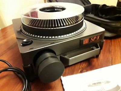 NOBO SP8 Carousel Slide Projector + Remote & Case - Excellent Condition