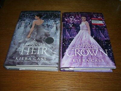 The Heir 1st Edition Signed Hardcover & The Crown Target Edition by Kiera Cass