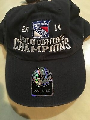 new product 44a69 19343 New York Rangers 2014 Eastern Conference Champions Gray Hat  47 One Size