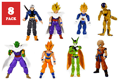 Dragon Ball Z Figure Super Bandai Saiyan Action New Goku Usa 8pk Mini Toy 5 Inch