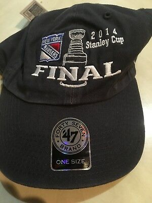 new product 7f8e1 41a67 New York Rangers Stanley Cup Final Gray Hat  47 Brand One Size Fits All