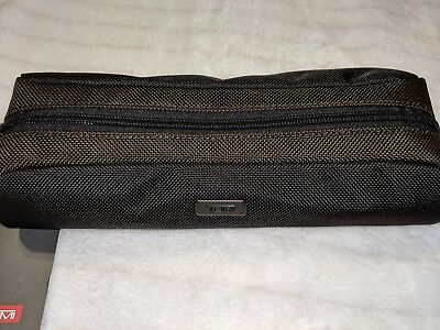 New With Tags   TUMI Cord Pouch  Black/Brown Long Cord Pouch