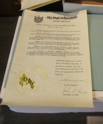 1952 Maryland Governor Theodore McKeldin Autograph Signed National Home Week