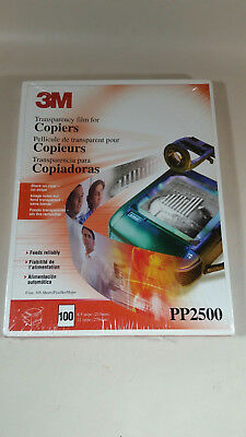 "3M PP2500 (100 SHEETS) Transparency Film For Copiers  8.5"" x 11""  - SEALED"
