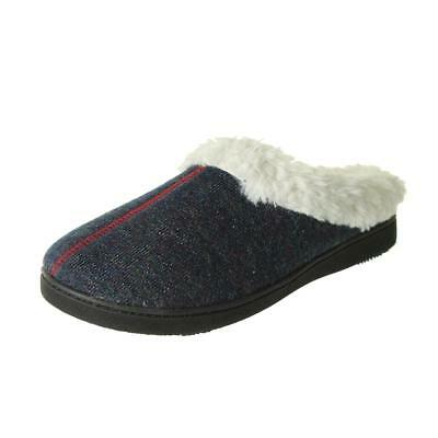 5f21641514fc Isotoner Womens French Terry Heel Cushion Lined Slip-On Slippers Shoes BHFO  1132