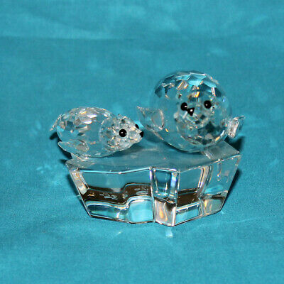 Swarovski Crystal Figurine, 158872 - Annual Edition 1991 'Save Me' - The Seals,