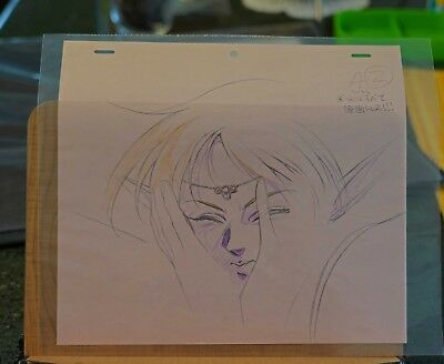 Anime Genga not Cel for Record of Lodoss War  handdrawn   2 drawings