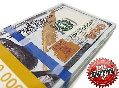 THE BEST PROP MONEY - $10,000 $100 Play Stage Fun Poker Copy Fake Money Double