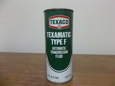 Vintage Texaco Ford Texamatic Type F Transmission Fluid Can Unopened Full