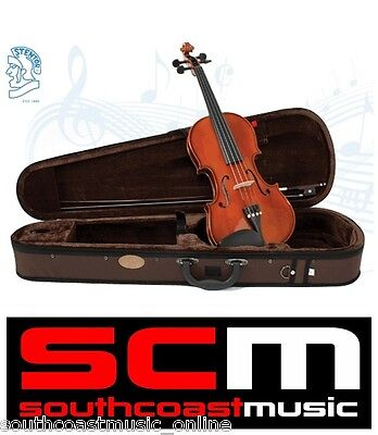 NEW STENTOR STANDARD 4/4 FULL SIZE VIOLIN OUTFIT with CASE & BOW SET UP BY PRO
