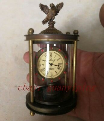 European exquisite brass classical mechanical eagle clock