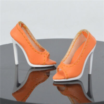 Silver shoes for Fashion royalty Ⅱ FR2 Nu Face 2 body doll thick sole 66-FR2-21B