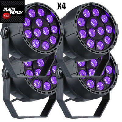 4X12W LED UV Black Light Stage Lighting Disco Bar DJ Light Effect Lamp Spotlight