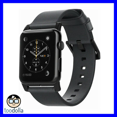 NOMAD Horween Genuine Leather Watch Strap band, Apple Watch 42/44 mm, Slate Grey