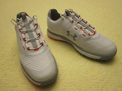 fa3ccf71072 NEW UNDER ARMOUR Fade RST White Pink Women Golf Shoes Sz 6.5 3000221 ...