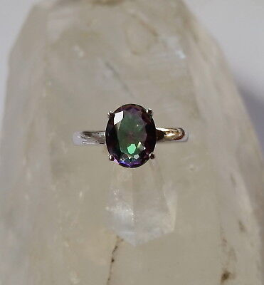 001 Mystic Topaz Gemstone Ring Solid 925 Sterling Silver size N/P/R rrp$79.95