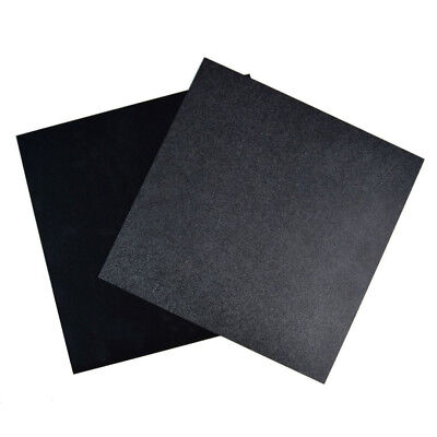 Black ABS Plastic Sheet Plate Flexible Smooth Back Durable 300 x 300 x 0.5mm