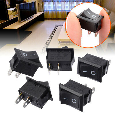 5Pcs 2 Pin SPST On/Off Off Rocker Switch AC 250V/6A 125V/10A