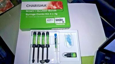 Heraeus Kulzer Charisma Smart Nano Composit Kit of 4 Syrs + 1 Bond 11/2020expiry