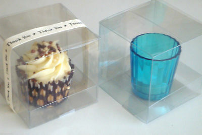 Clear Transparent PVC Boxes Cupcake Chocolate Sweets Gifts FREE Optional Inserts