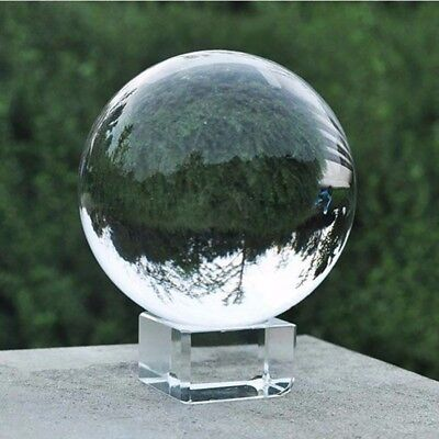 Clear Glass Crystal Ball 40-120mm Photography Lens Ball Sphere Decoration Gifts