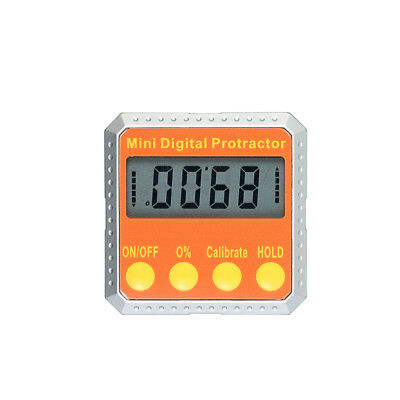 360° Mini LCD Digital Protractor Angle Finder Degree Percentage Conversion E8D3