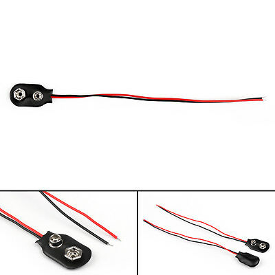 PP3 9V Battery Leather Snap-on Connector Clip Tinned Wire Leads 150mm AU